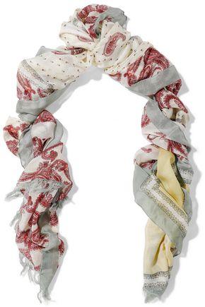ACNE STUDIOS Printed modal and silk-blend gauze scarf
