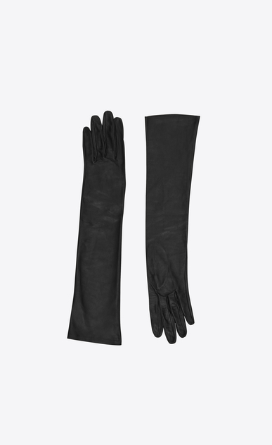 SAINT LAURENT Glove Femme gants longs en agneau plongé a_V4