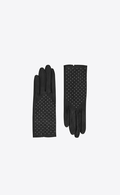 SAINT LAURENT Glove Woman studded lambskin gloves a_V4