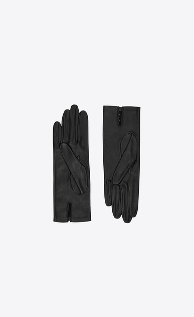 SAINT LAURENT Glove Woman studded lambskin gloves b_V4