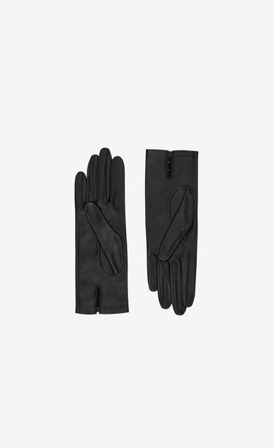 SAINT LAURENT Glove Damen Handschuhe aus schwarzem Leder mit Nieten b_V4