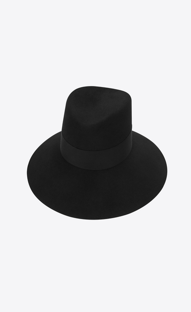 SAINT LAURENT Hats Woman felt hat with gros grain ribbon a_V4