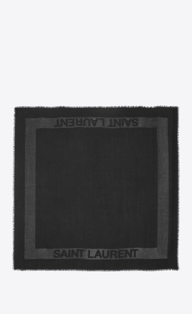 SAINT LAURENT Squared Scarves Woman saint laurent jacquard square scarf b_V4