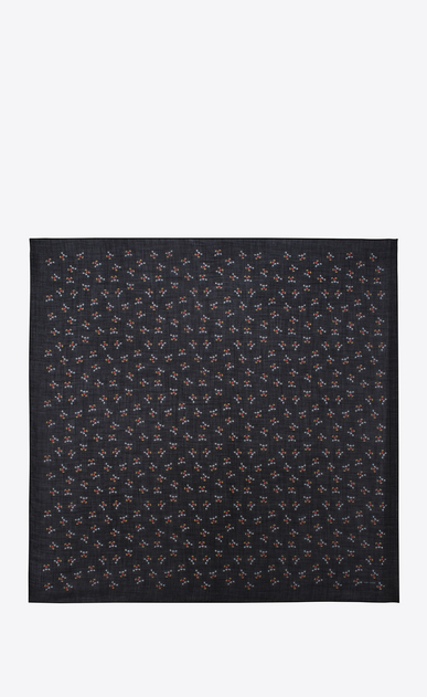 SAINT LAURENT Squared Scarves Woman square scarf in cashmere and silk with mickey mouse print b_V4