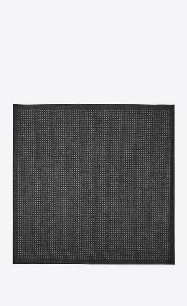 SAINT LAURENT スカーフ カレ レディース Large square scarf in black and white star print challis b_V4