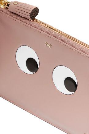 ANYA HINDMARCH Loose Pocket appliquéd leather clutch