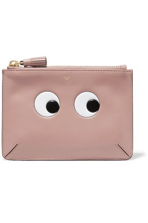 ANYA HINDMARCH Loose Pocket appliquéd leather clutch