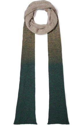 ACNE STUDIOS Remy S Mouliné ribbed degradé cotton-blend scarf