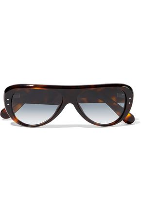 WOMAN INDY AVIATOR-STYLE TORTOISESHELL ACETATE SUNGLASSES BROWN