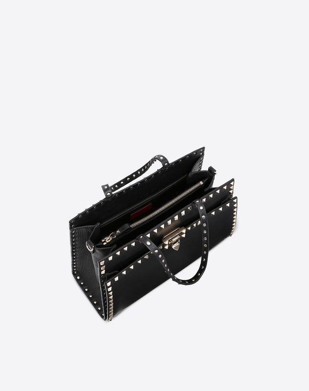 Medium Rockstud Top Handle Bag