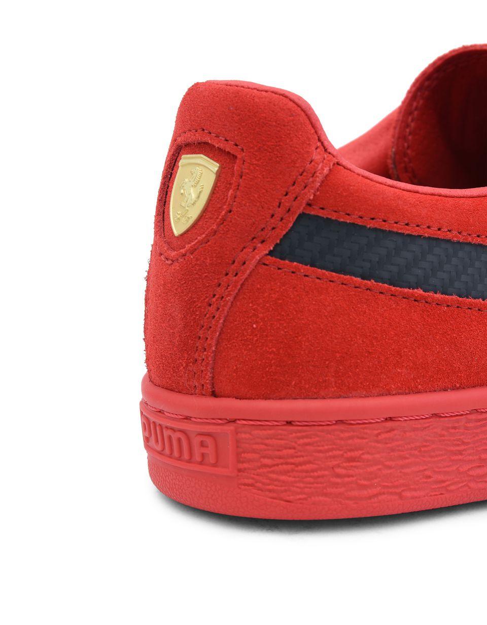 Scuderia Ferrari Online Store - Scuderia Ferrari 50th Anniversary Suede Shoes - Sneakers