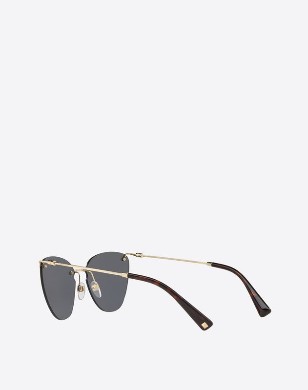 CAT-EYE FRAMELESS METAL SUNGLASSES