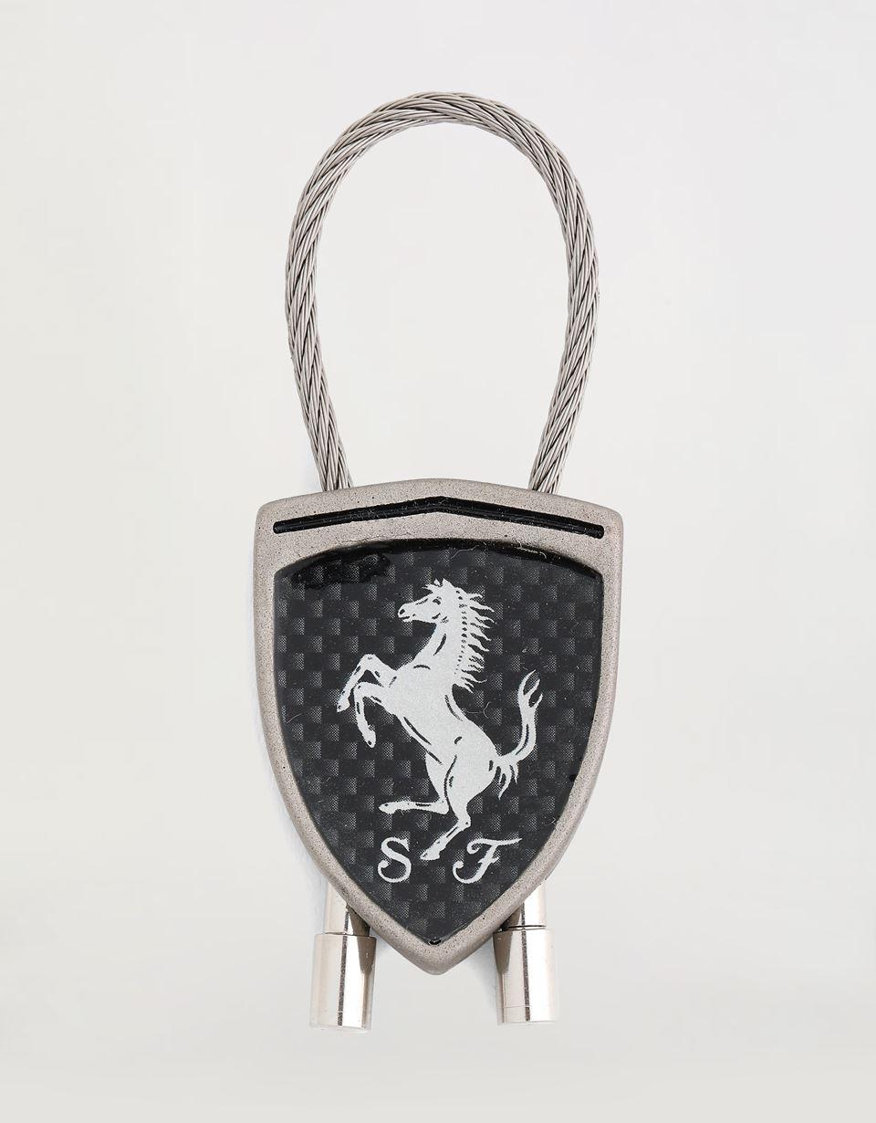Scuderia Ferrari Online Store - Carbon fiber Shield keychain - Keyrings