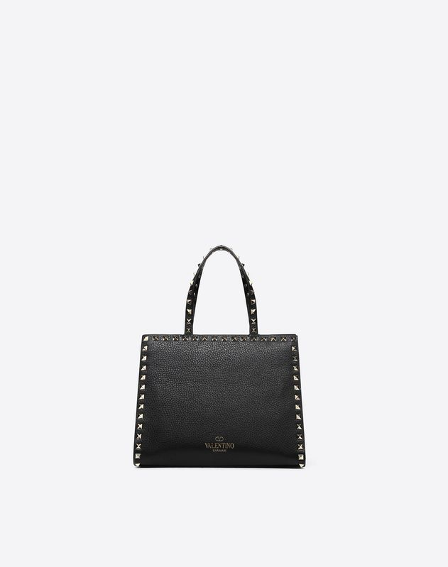 Small Rockstud Top Handle Bag