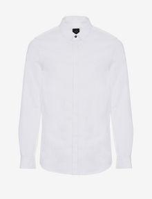 ARMANI EXCHANGE SLIM-FIT CLASSIC STRETCH SHIRT Plain Shirt Man r