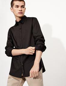 ARMANI EXCHANGE SLIM-FIT CLASSIC STRETCH SHIRT Plain Shirt [*** pickupInStoreShippingNotGuaranteed_info ***] a