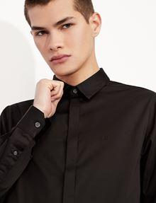 ARMANI EXCHANGE SLIM-FIT CLASSIC STRETCH SHIRT Plain Shirt [*** pickupInStoreShippingNotGuaranteed_info ***] b