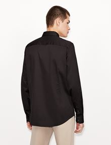 ARMANI EXCHANGE SLIM-FIT CLASSIC STRETCH SHIRT Plain Shirt [*** pickupInStoreShippingNotGuaranteed_info ***] e