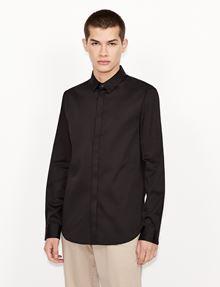 ARMANI EXCHANGE SLIM-FIT CLASSIC STRETCH SHIRT Plain Shirt [*** pickupInStoreShippingNotGuaranteed_info ***] f