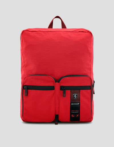 Folding backpack with front pockets