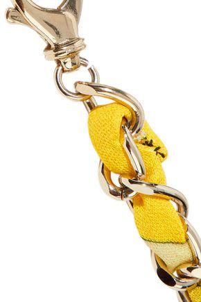 EMILIO PUCCI Gold-tone printed jersey belt