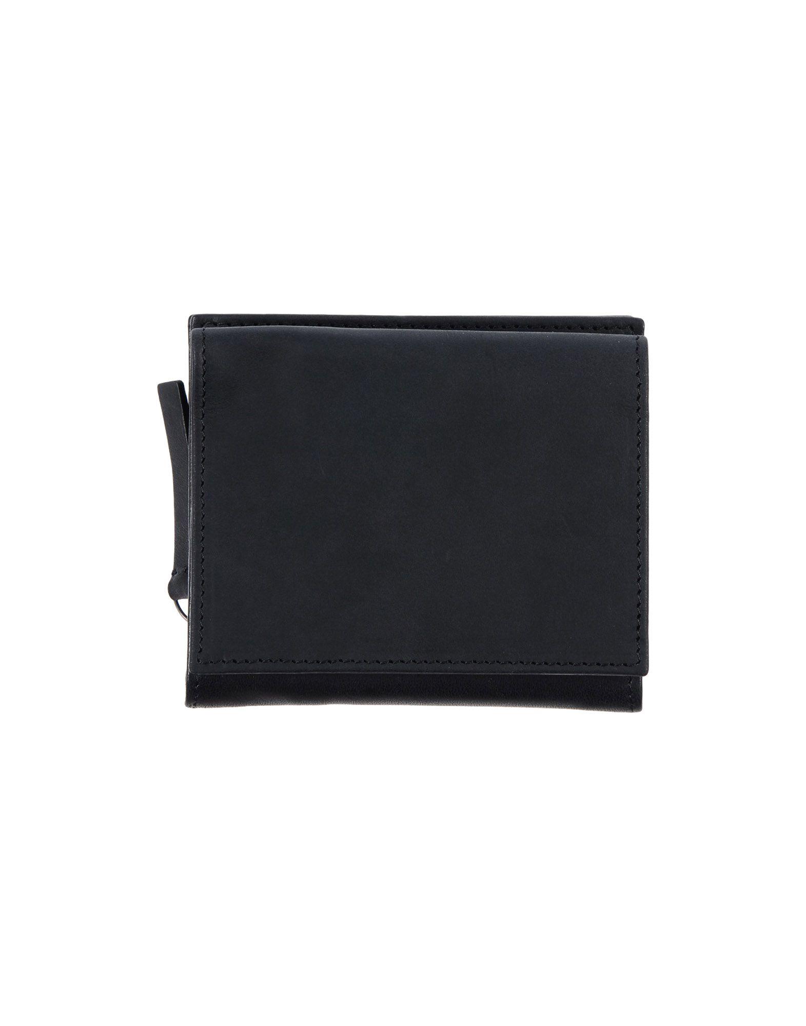 《送料無料》ANN DEMEULEMEESTER レディース 財布 ブラック 革