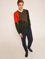ARMANI EXCHANGE GEOMETRIC COLORBLOCK WOOL SWEATER Pullover Man a