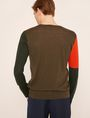 ARMANI EXCHANGE GEOMETRIC COLORBLOCK WOOL SWEATER Pullover Man e