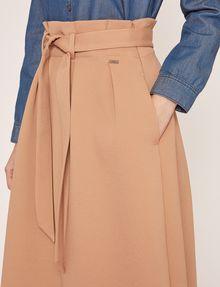ARMANI EXCHANGE PAPERBAG WAIST PLEATED MIDI SKIRT Long Skirt Woman b