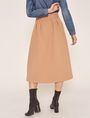 ARMANI EXCHANGE PAPERBAG WAIST PLEATED MIDI SKIRT Long Skirt Woman e
