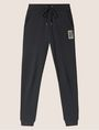 ARMANI EXCHANGE METALLIC EMBOSSED LOGO SWEATPANT Fleece Pant Woman r