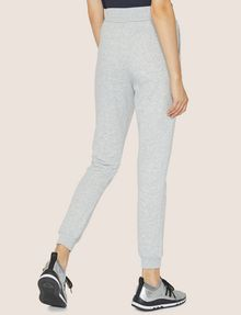 ARMANI EXCHANGE SPORTHOSE MIT PRÄGELOGO IN METALLIC-OPTIK Fleece-Hose Damen e