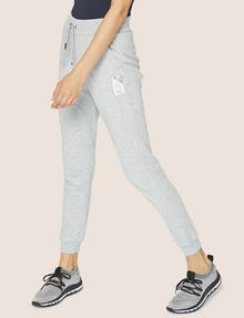 ARMANI EXCHANGE SPORTHOSE MIT PRÄGELOGO IN METALLIC-OPTIK Fleece-Hose Damen f