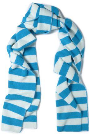 DIANE VON FURSTENBERG Striped angora-blend scarf