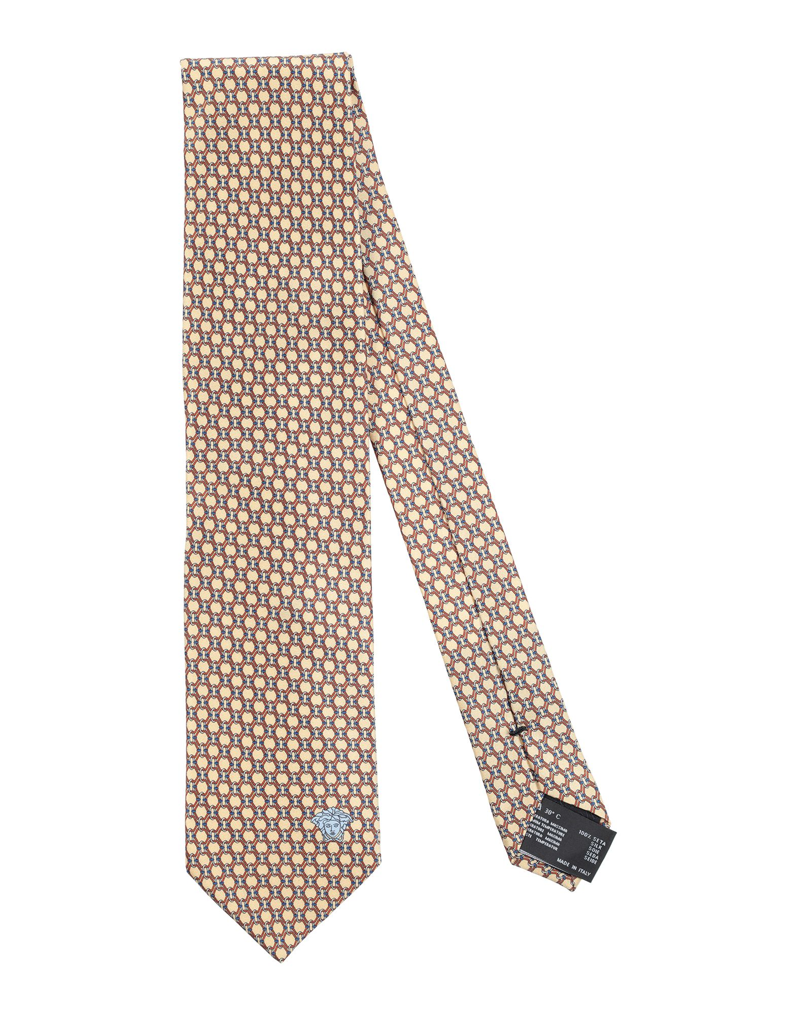 VERSACE Галстук versace бордовый галстук в клетку внизу с логотипом versace 821752 page 5 page 2