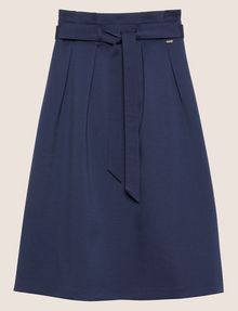 ARMANI EXCHANGE PAPERBAG WAIST PLEATED MIDI SKIRT Long Skirt Woman r