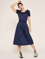 ARMANI EXCHANGE PAPERBAG WAIST PLEATED MIDI SKIRT Long Skirt Woman d