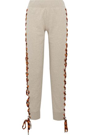 ACNE STUDIOS Diana mélange lace-up cotton-fleece track pants