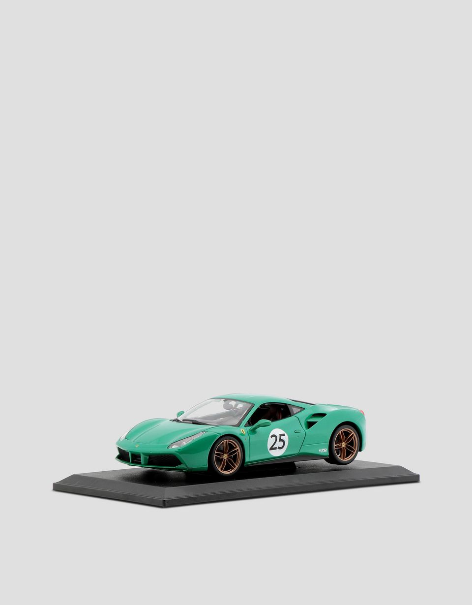 "Scuderia Ferrari Online Store - Ferrari 488 GTB ""The Green Jewel"" 1:18 scale model - Car Models 01:18"