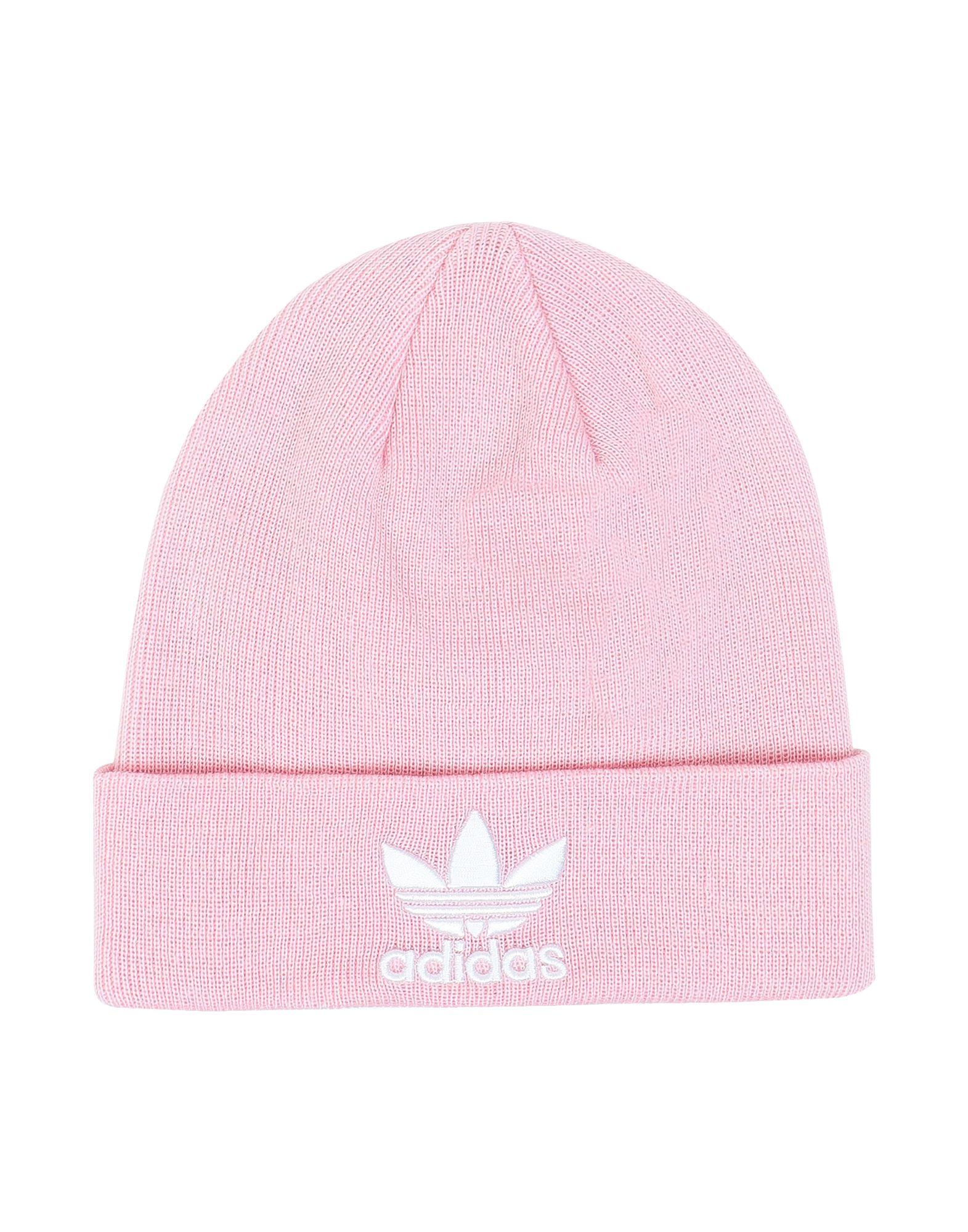 《送料無料》ADIDAS ORIGINALS Unisex 帽子 ピンク one size アクリル 100% TREFOIL BEANIE