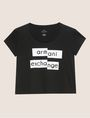 ARMANI EXCHANGE FRAGMENTED EMOJI CROP Logo T-shirt Woman r