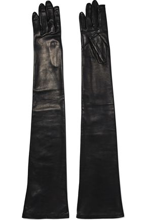 RICK OWENS Long leather gloves