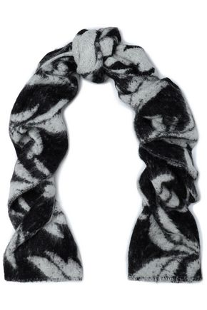 McQ Alexander McQueen Brushed jacquard-gauze scarf