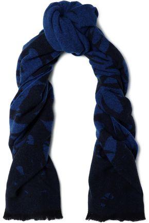 McQ Alexander McQueen Fringed wool-blend scarf