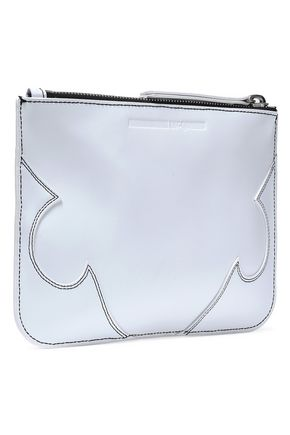 McQ Alexander McQueen Embroidered leather pouch