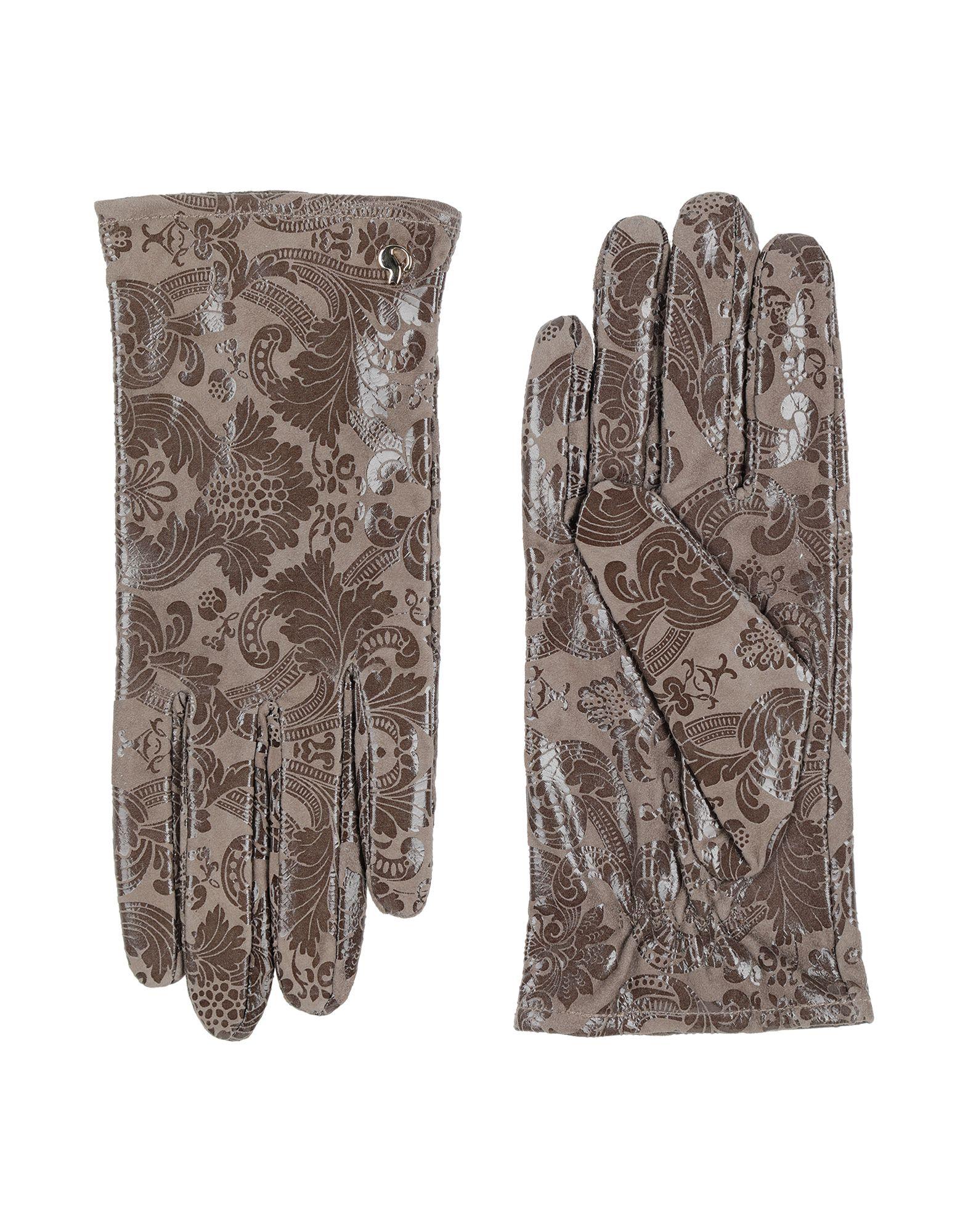 《セール開催中》DAL DOSSO? レディース 手袋 ドーブグレー 6.5 100% 革