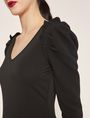 ARMANI EXCHANGE RUFFLE SLEEVE V-NECK TOP L/S Knit Top Woman b