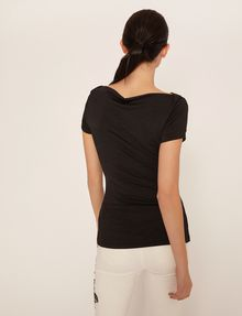 ARMANI EXCHANGE BOATNECK COWL TOP Solid Top [*** pickupInStoreShipping_info ***] e