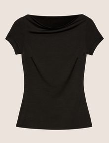 ARMANI EXCHANGE BOATNECK COWL TOP Solid Top Woman r