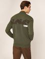 ARMANI EXCHANGE CAMO-BACK PIECED BOMBER JACKET Sweatshirt Man e